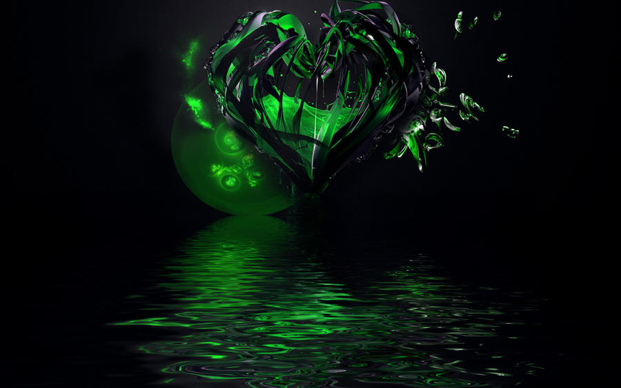 green hearts background - photo #45