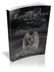 3D Hopeless Angel Mock Book Cover Large Size