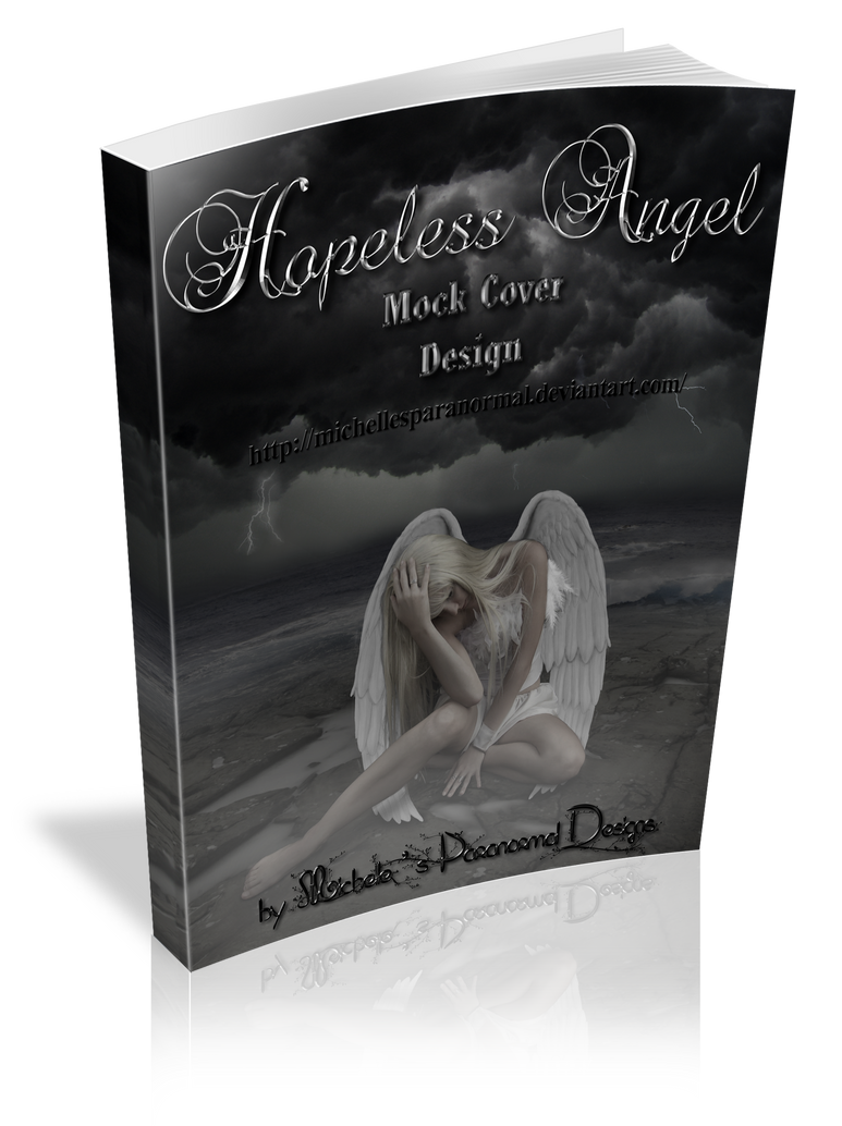 Book Cover Art Size : D hopeless angel mock book cover large size by
