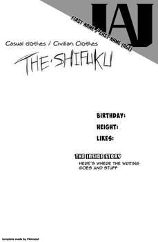 Boku No Hero Academia Character Shifuku Template
