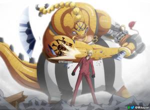 Sanji vs Queen - OP 1028