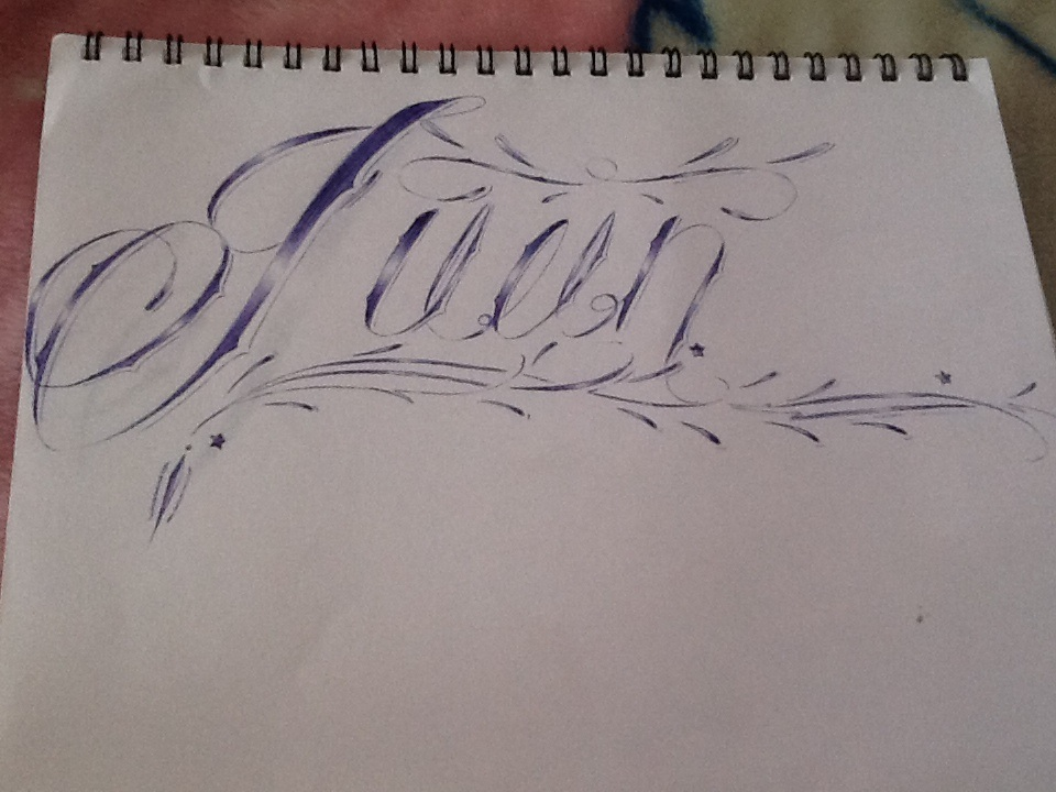 My name in calligraphy tattoo font by costamesaartcallig