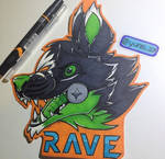 Animatronic Rave Badge [COM]