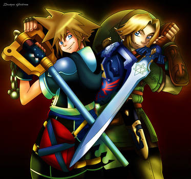 Link and Sora by MightyGoodrum