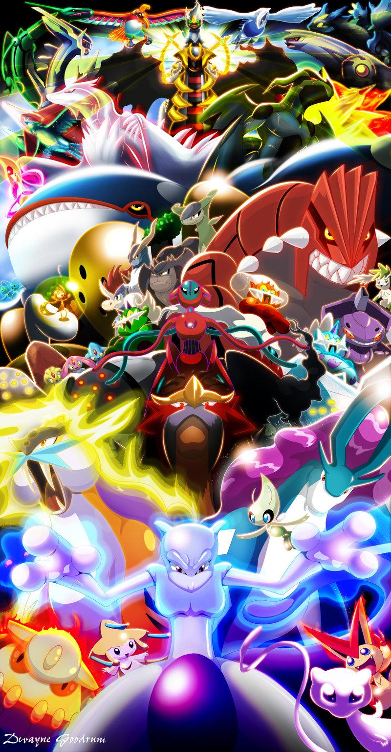 Every Legendary Pokemon (2012) by MightyGoodrum on DeviantArt