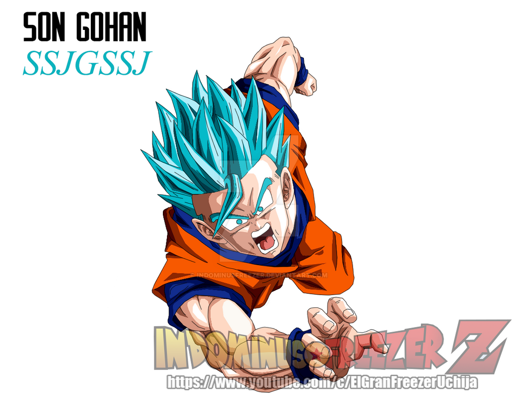 Son gohan super saiyan god blue by indominusfreezer on - Son gohan super saiyan 4 ...