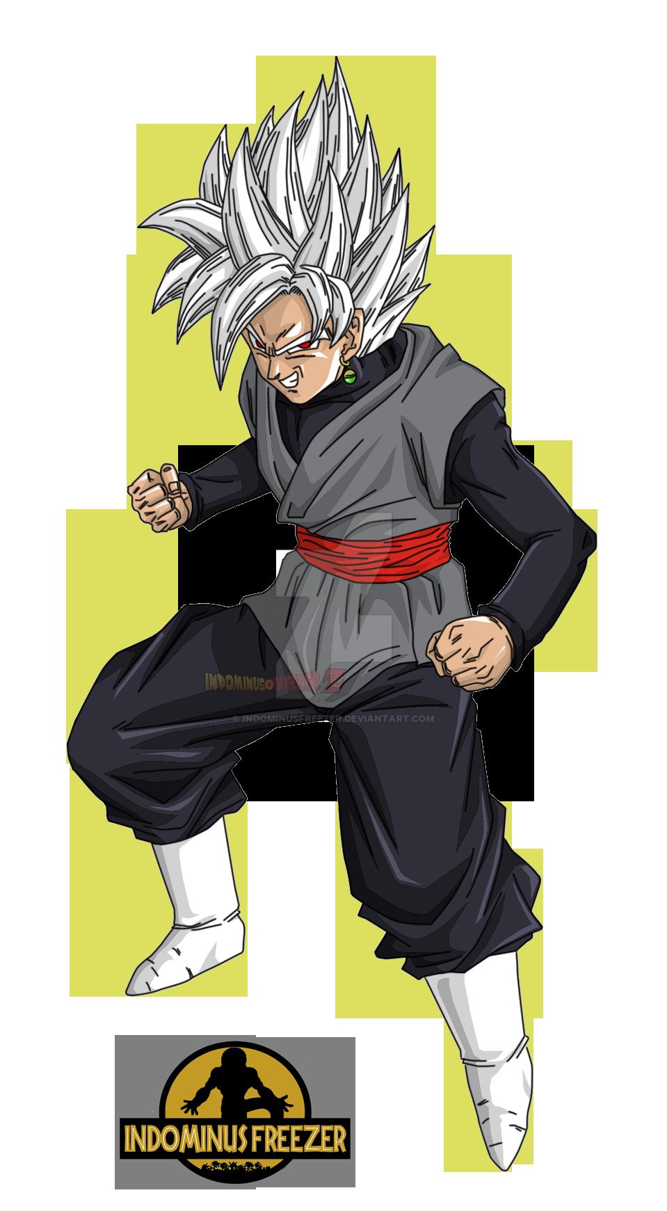 Black Goku Ssj White By Indominusfreezer On Deviantart