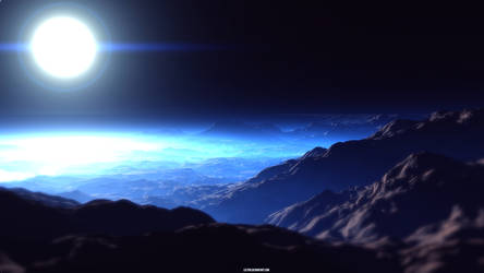 Blue Sunset by Leetrr