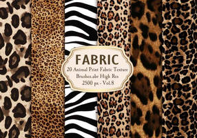 20 Animal Print Fabric Brushes.abr Vol.8 20 Animal
