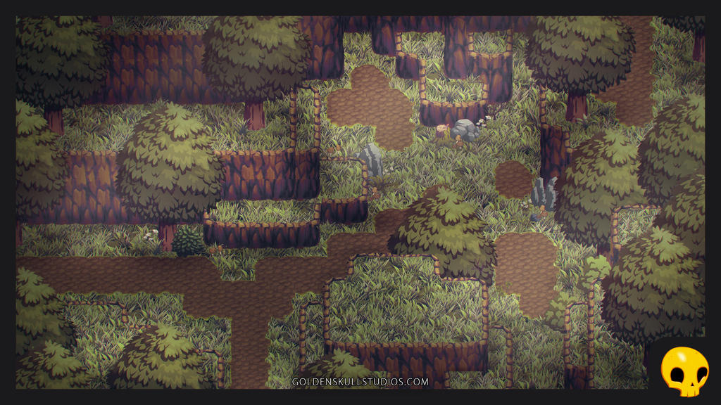 RPG Maker Tiles with Isometric Foliage by ...