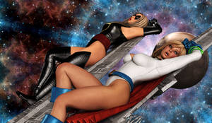 POWER GIRL: Lost in Space... by Furbs3D