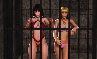 VAMPIRELLA and MISTY: Captivity...