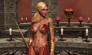 ADENAH: Priestess of Fire (Temple Pinup)