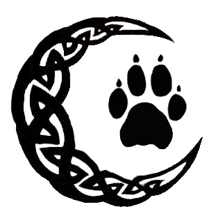 Celtic Moon with Wolf Paw by MorphyVampy on DeviantArt
