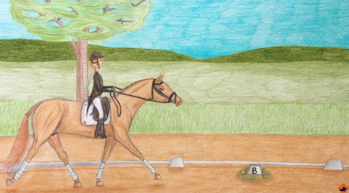 Dressage with a Jumper by Jubejubester