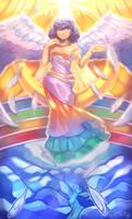 [+Video] Rainbow-Winged Goddess - [Commission]