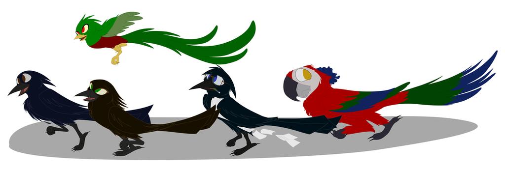 The Crazy birds... by Katnay