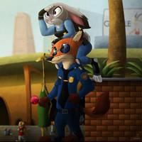 Zootopia Police... by Katnay