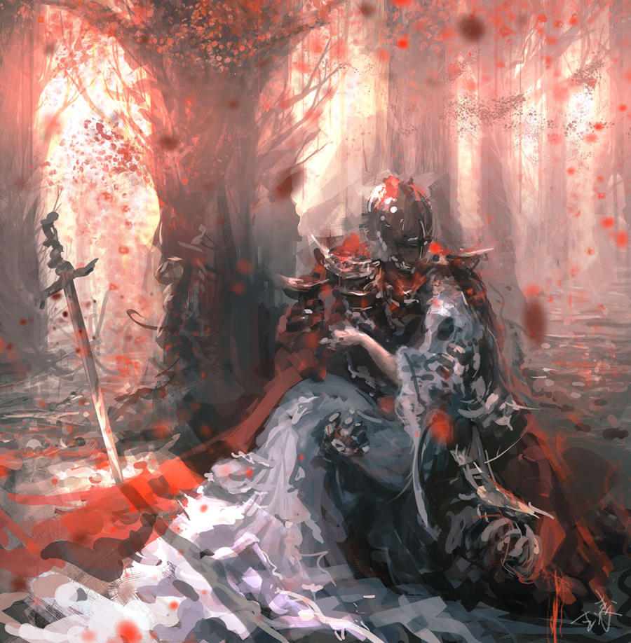 Knight by wlop on deviantart for Deviantart wlop