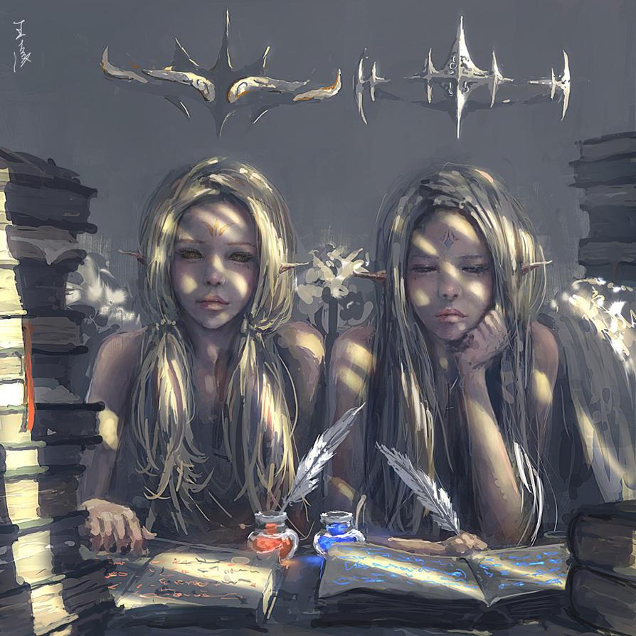 Avatar jumelles Twins_by_wlop-d679l7o