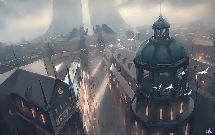 [Kumo] Ruas de Acesso Geral Heaven_tower_by_wlop-d72a4wk