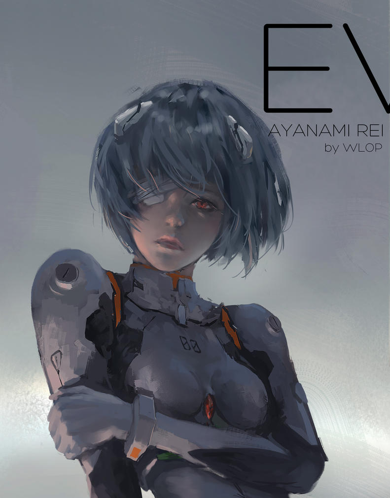 Ayanami rei by wlop on deviantart for Deviantart wlop
