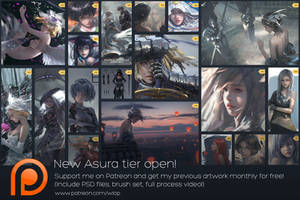 New Asura Tier open on Patreon! by wlop