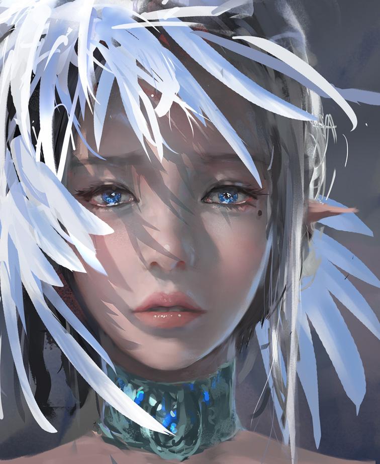 anime girls belts feathers - photo #28