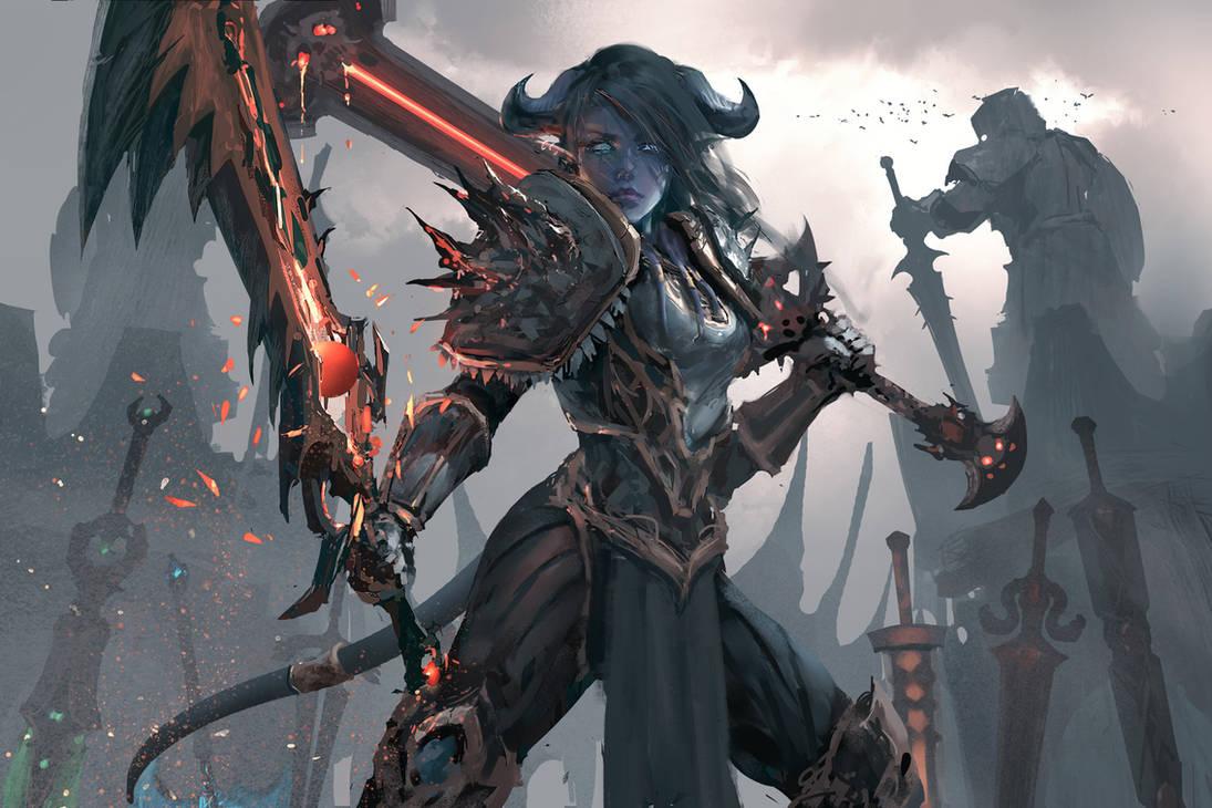 Warrior World Of Warcraft By Wlop On Deviantart