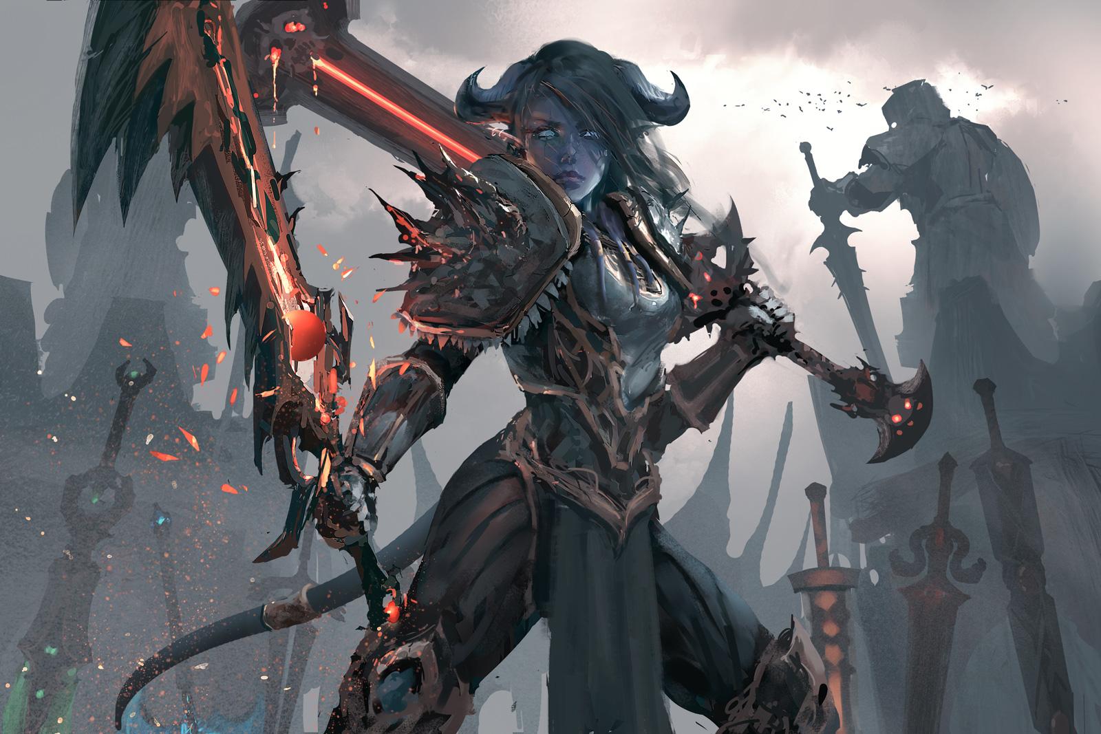 Warrior - World of Warcraft by wlop on DeviantArt