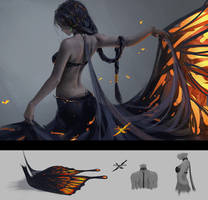 Butterfly by wlop