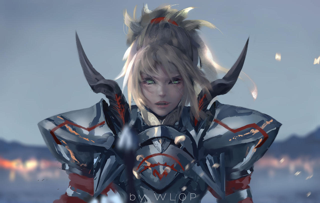 Mordred by wlop on deviantart for Deviantart wlop