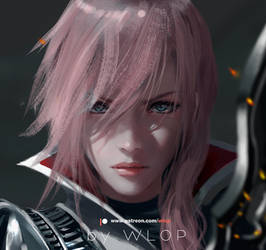 Lightning by wlop