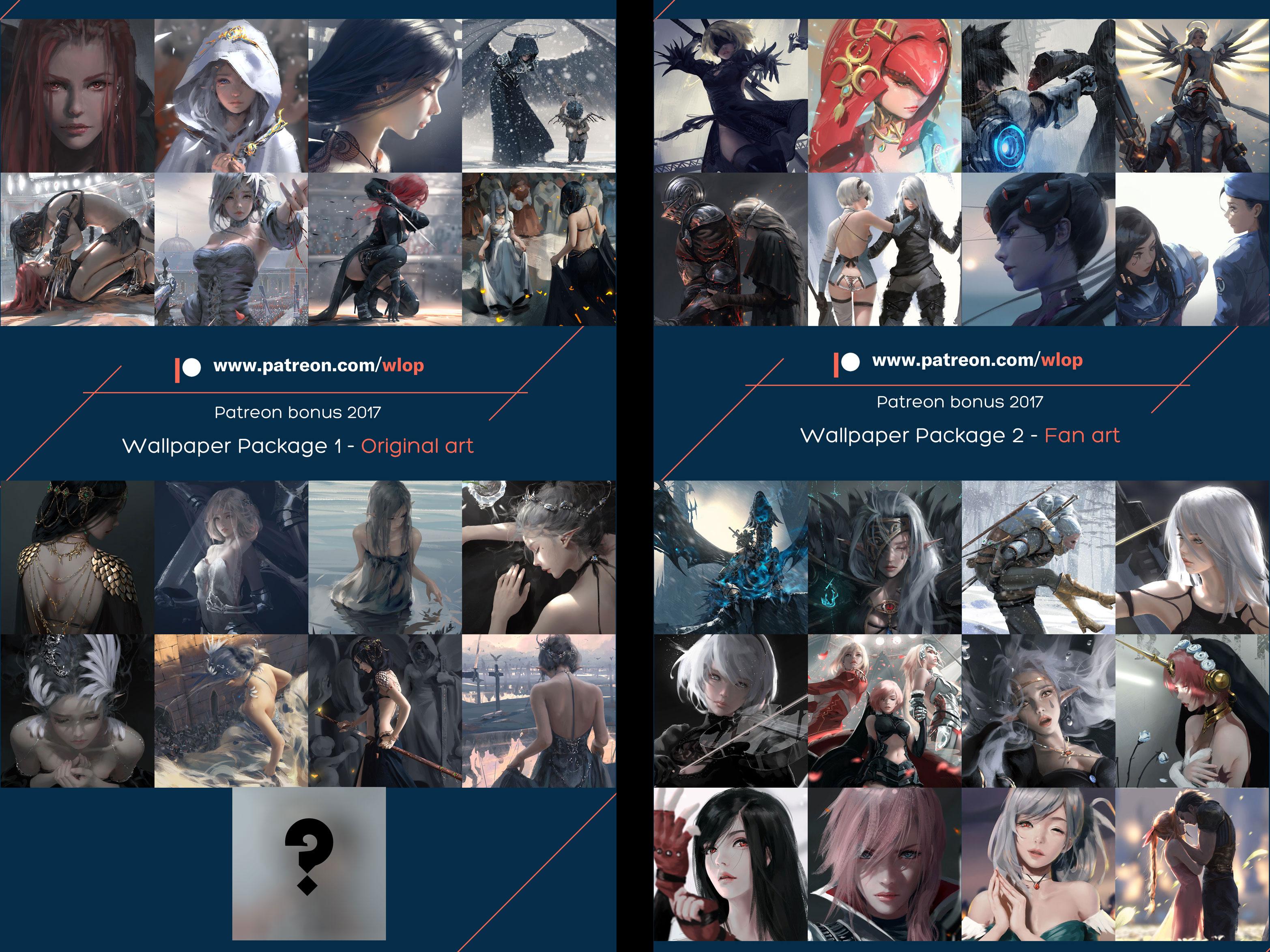 2017 wallpaper package by wlop on DeviantArt