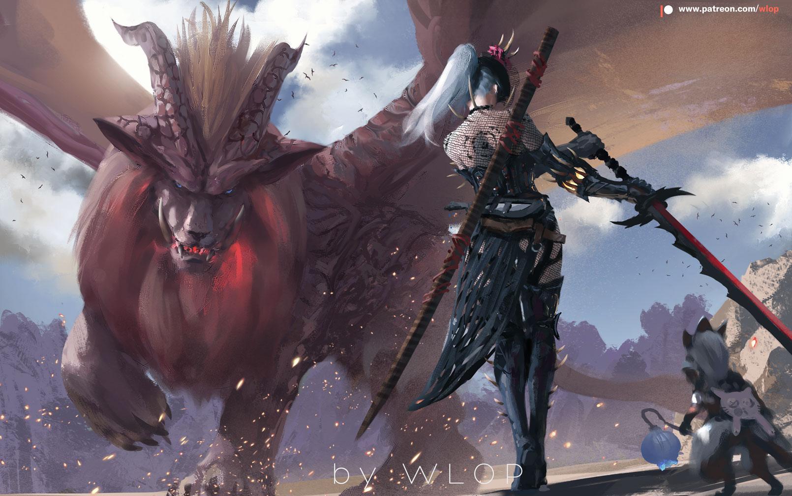Monster Hunter By Wlop On Deviantart