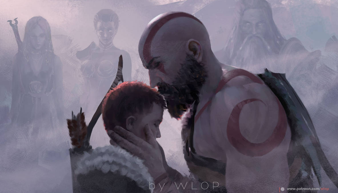 God of war by wlop
