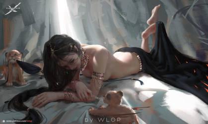 Lion by wlop