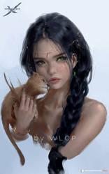 Aeolian Portrait by wlop