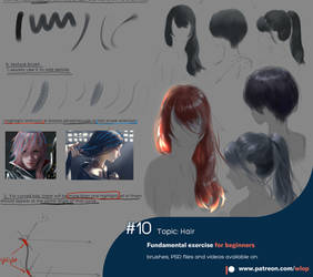 #10  Hair by wlop