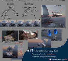 #14 Material:Metal  Jewelry Glass