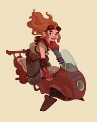 Steampunk explorer by Mar1o-C