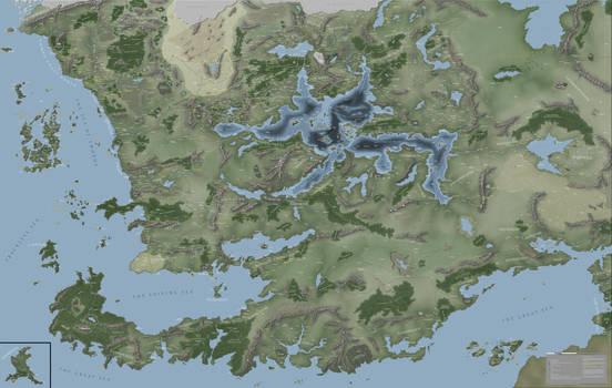 Faerun Continent Map