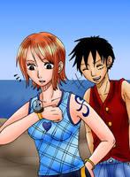 Luffy x Nami - Lockport by Kaschra
