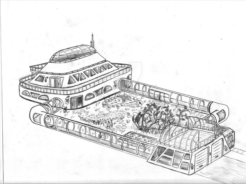 Retro-Futuristic House [Conceptual Design] by Adam-The-Person