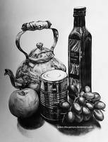 100% Organic Olive Oil [Pencil Still-Life] by Adam-The-Person