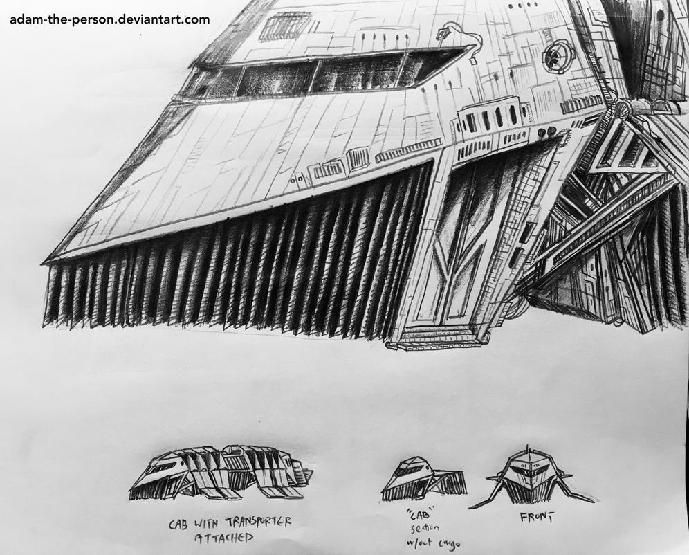 Futuristic Hover-Truck [Conceptual Sketch] by Adam-The-Person