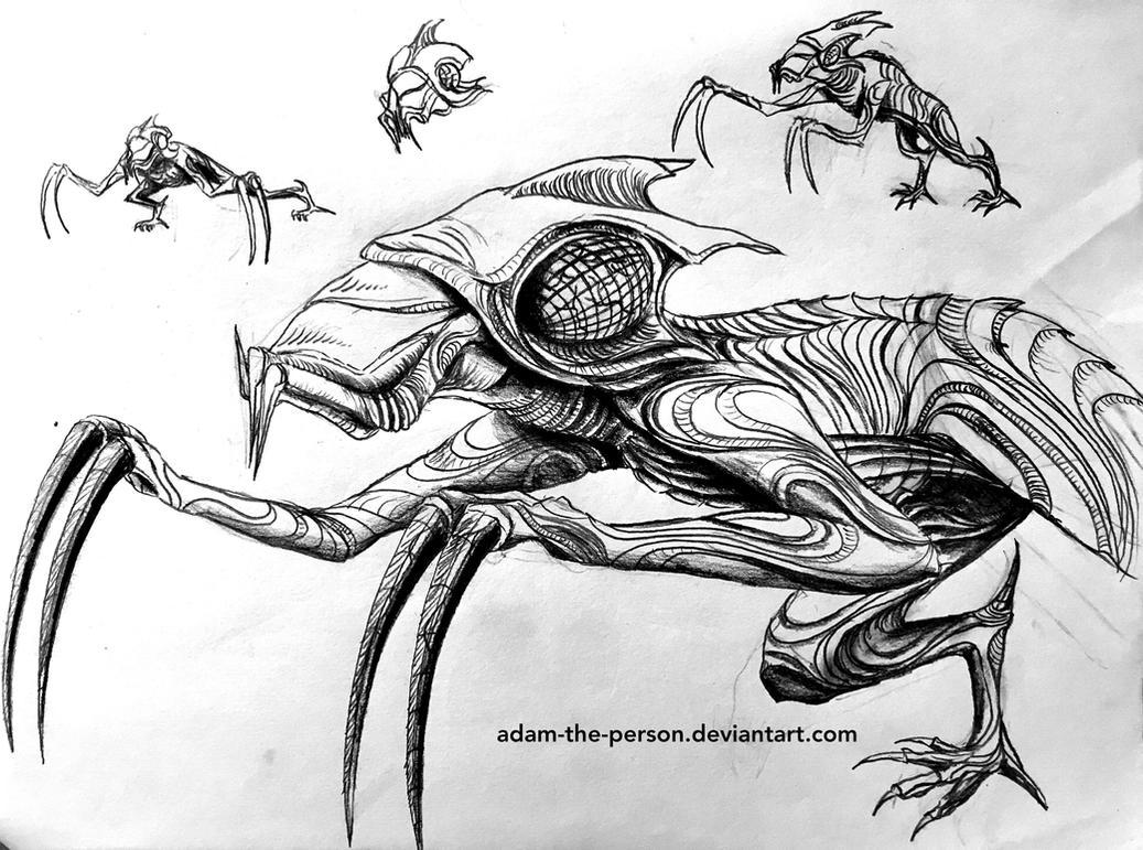 Bio-mechatronic Hunter [Conceptual Sketch] by Adam-The-Person