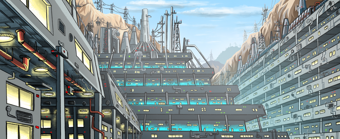 Canyon City - Sci-Fi Concept Art