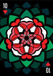Ten of Hearts (Heart-Star Rose) [Digital Design]