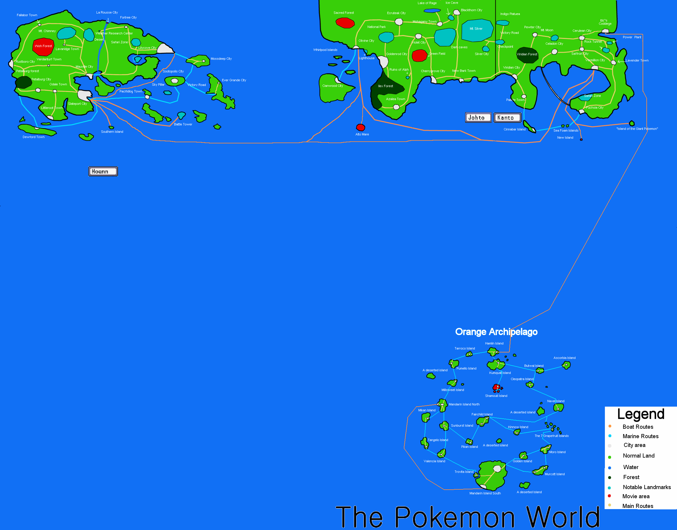Pokemon World Map by hinata192 on DeviantArt